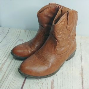 Cat and Jack 1 Girls Boots Cowboy Western Zip Up